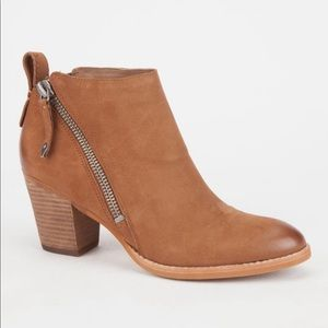 Brown Zipper Ankle Boots